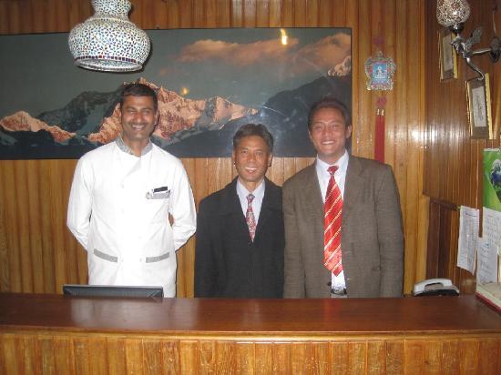 Chiminda International: Staff: Left to right Rajat, Indra, Anil