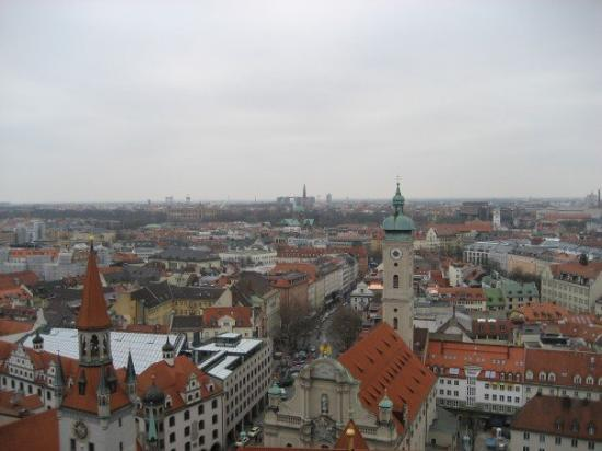 St. Peter's Church: Munich.  The view from the top of St. Peters church....by far my favorite view in all of Europe.