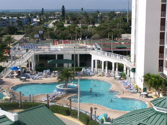 The Resort on Cocoa Beach: view from the inner corridor