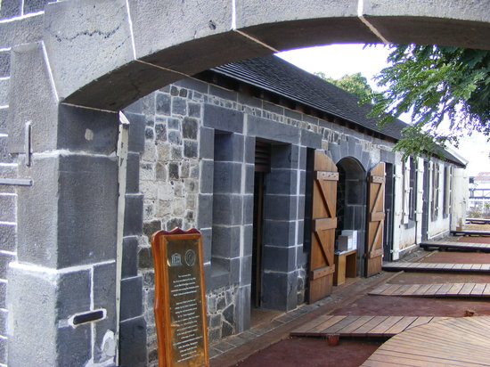 Port Louis: One of the slave processing buildings