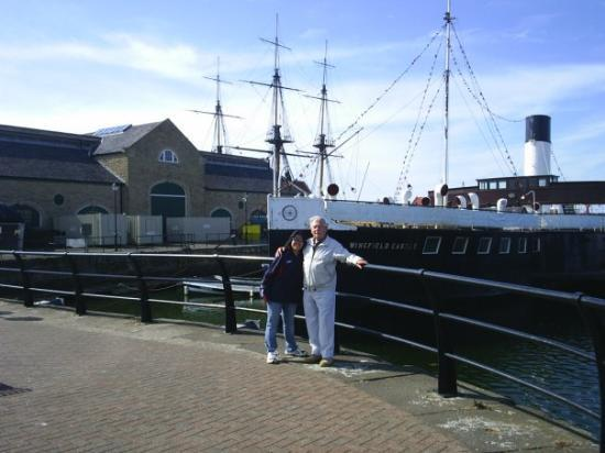 Hartlepool, UK: with my father in law june 2007