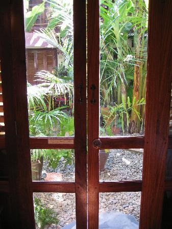 Lotus Villa Boutique Hotel : Back door to terrace