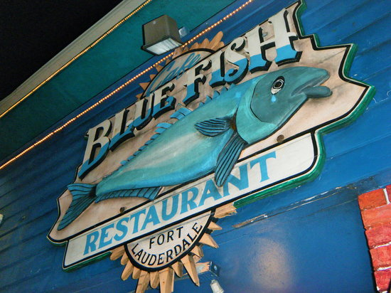 The Cafe Bluefish Sign