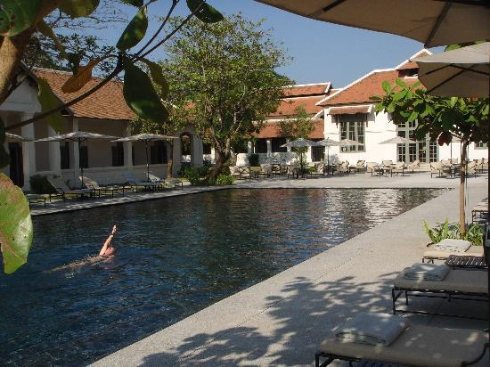 Hotel Amantaka: The main pool area of the resort