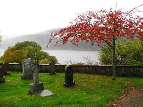 Foyers Bay Country House: Boleskine Cemetery, a few miles from B&B
