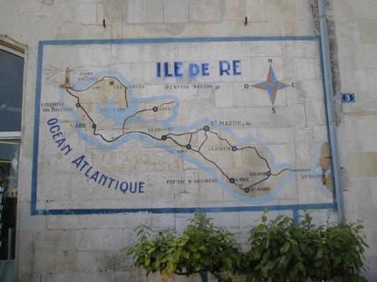 Ile de Ré, France : La Carte de l'ile de Re