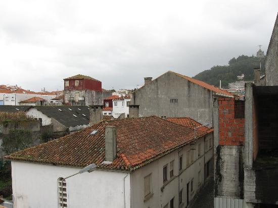 Hotel Viana Sol: view from room--Santa Luzia at top right
