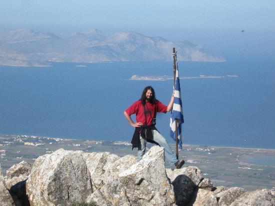 Kos, Hellas: Christos location. 843metres above sea level overlooking the islands of Kalymnos, Platy & Pserim