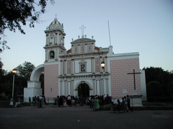 Iglacia (church) in the heart of Huitzuco, Mexico near Iguala