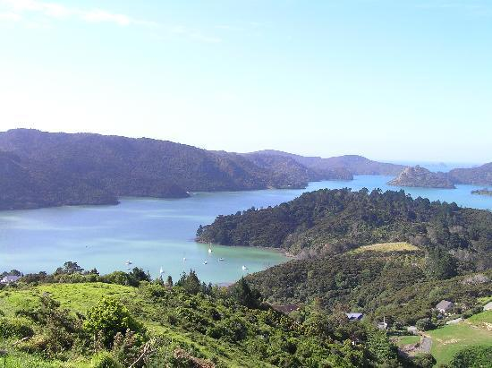 Waimanu Lodge Whangaroa Northland: View from climb up St Pauls