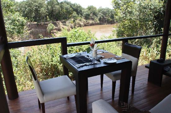 Ngerende Island Lodge: Lunch for two on our patio