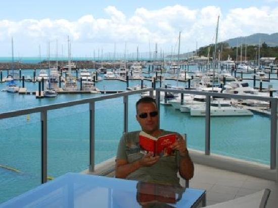 Peninsula Airlie Beach: One of two large balconies overlooking the marina