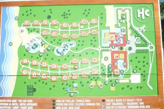 Catalonia Bavaro Beach Golf Resort Map Of Hc