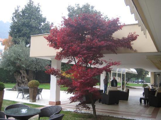 Ermitage Bel Air : entrée de l'hôtel