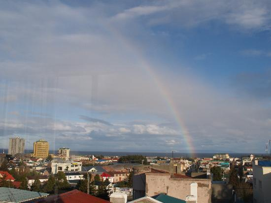 Ilaia Hotel: The rooftop room view with a rainbow