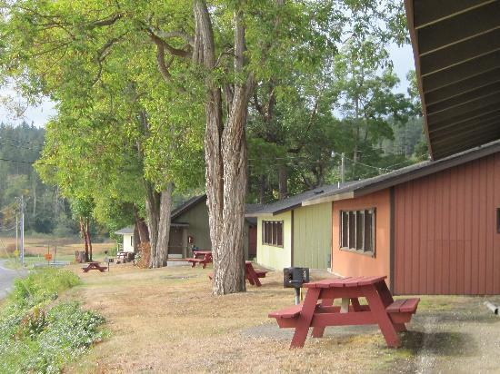 John Wayne's Waterfront Resort: cabins in nice bright colors-2009