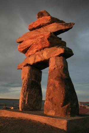 Inukshuk Rankin Inlet Nu Picture Of Rankin Inlet Nunavut Tripadvisor