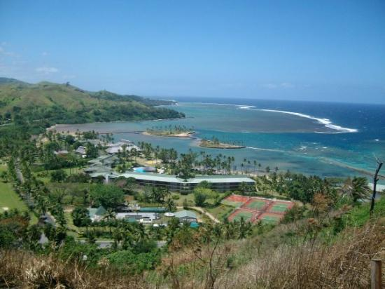 Naviti Resort: The View from the of hill for a Tsunami Warning