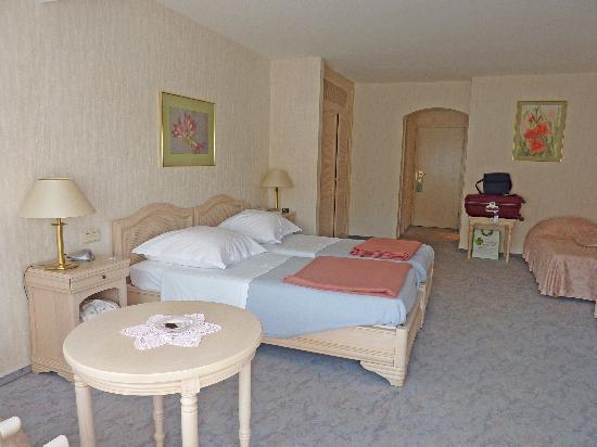 Hotel Meyer: chambre 3 personnes vue jardin
