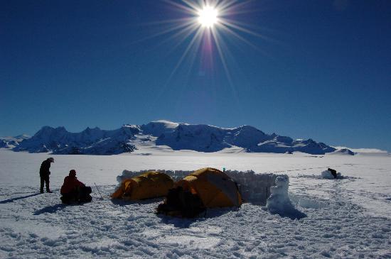 Patagonia Hikes: Ice Cap campsite