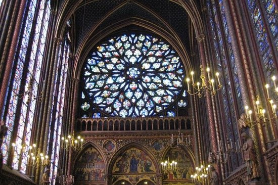 Eglise Saint-Sulpice : The rose window.