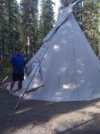 Brett at the Tok tepee