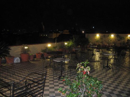 Ambasciatori Hotel: Rooftop terrace on a winter's night!