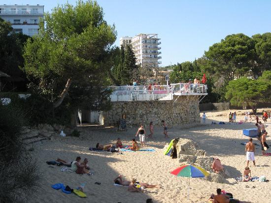 H TOP Caleta Palace: Hotelzugang von Meeresseite
