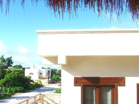 Xibalba Hotel: Der morgendliche Blick während des Frühstücks von der Palappa