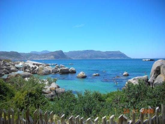 View from Boulders beach in Simonstown