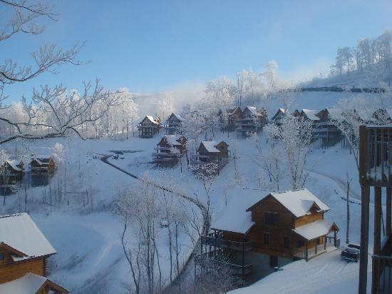 Scenic Wolf Mountain Cabins: The resort
