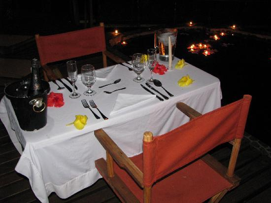 Pacuare Lodge: romantic dinner