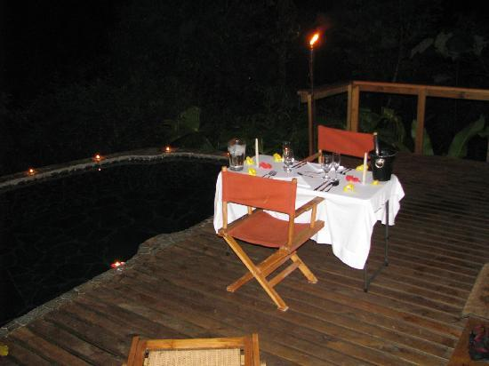 Pacuare Lodge : romantic dinner