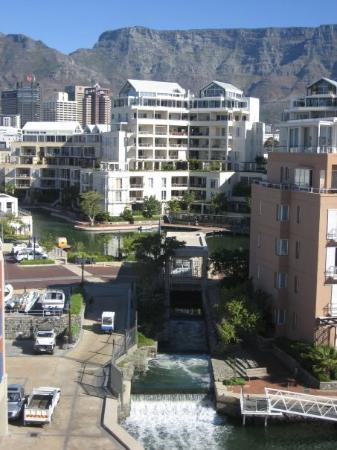 City view of Table Mountain... this view is from the Spa at the Cape Grace Hotel... awesome plac