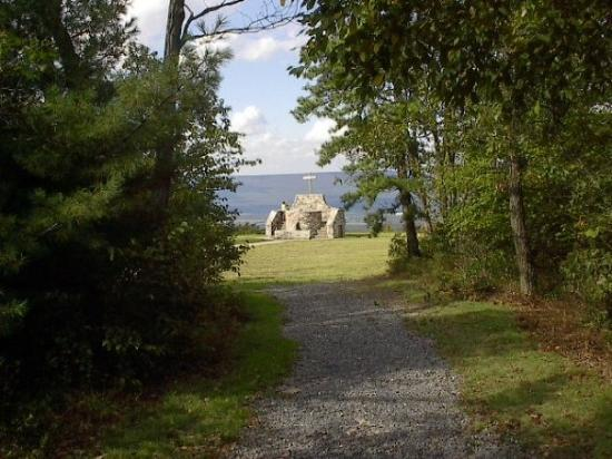 Lewistown, PA: Altar on mountain in Pennsylvania.  Not quite at top of mountain, but close!  Day I was there, s
