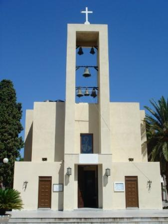 Léros, Grèce : The art deco fabulous church of Agios Nikolaos, Lakki, Leros