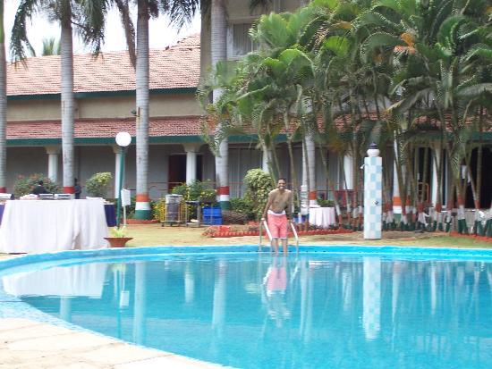 By The Swimming Pool Picture Of Ramee Guestline Hotel Bangalore Bengaluru Tripadvisor