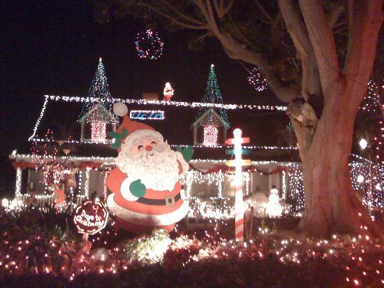 Candy Cane Lane: Large Santa Display