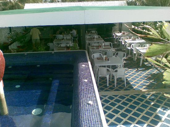 In on the Beach: The Jacuzzi overlooking the breakfast corner @ The Rooftop Terrace