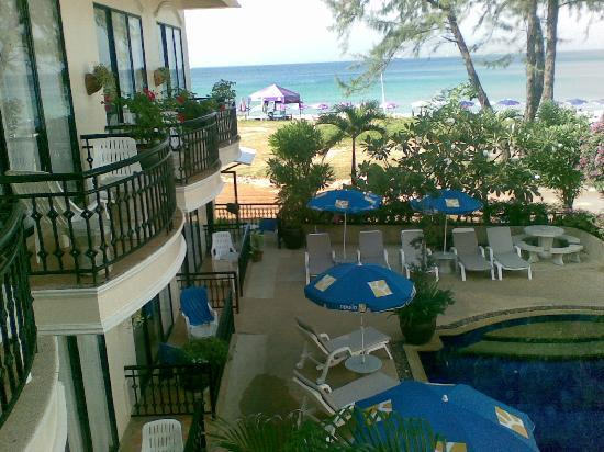 In on the Beach: View from the staircase of 2nd Floor