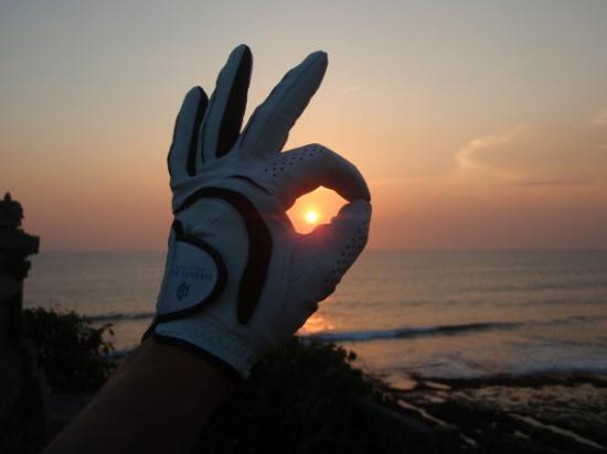 Seminyak, Indonésia: Sunset golf in Bali