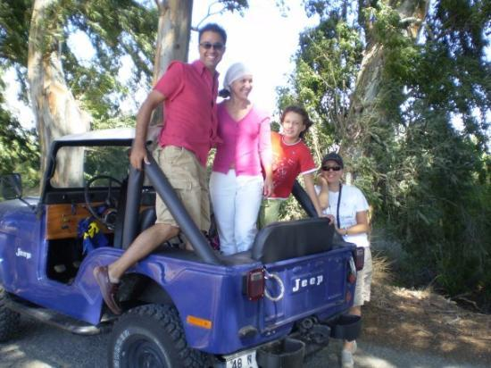 eucalyptus road between Marmaris and Mugla and Nico's jeep