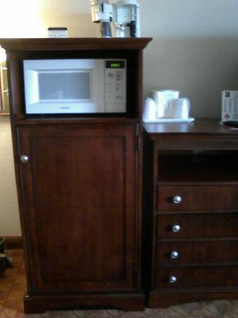 Quality Inn & Suites Dayton South / Miamisburg: Fridge and Microwave