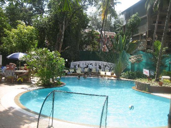 ฟีนิกซ์ พาร์คอินน์ รีสอร์ท: Hotel pool and construction behind
