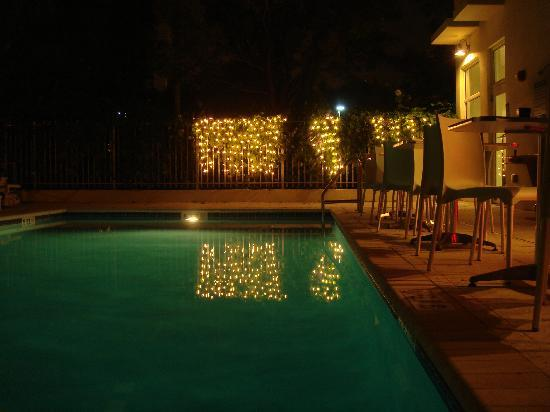 The New Hotel: piscina di notte