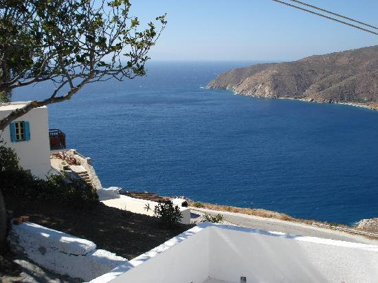 Pension Uranos : view from Uranos area -this is Potamos vill