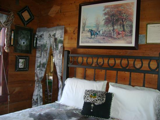 Stonehouse Bed and Breakfast: wolf bed