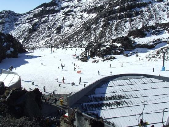 Base of Whakapapa ski area on Mt. Ruapehu