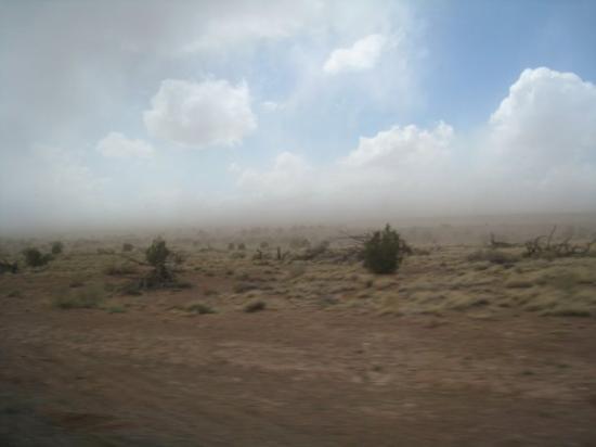 Snowflake, AZ: Dust storm!