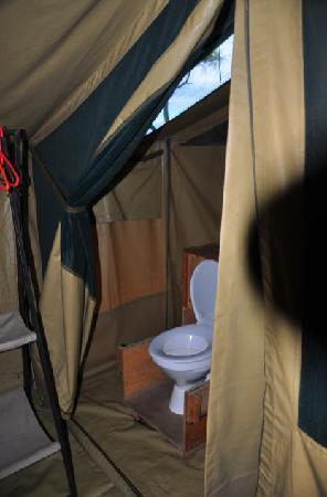 Serengeti Medium Camp: Toilet in tent at Medium Camp.